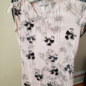 Aeropostale baby tee panda print tee shirt